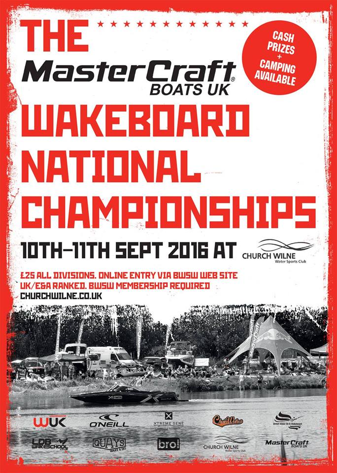 Enter the Mastercraft Boats UK Wakeboard Nationals Championships 2016