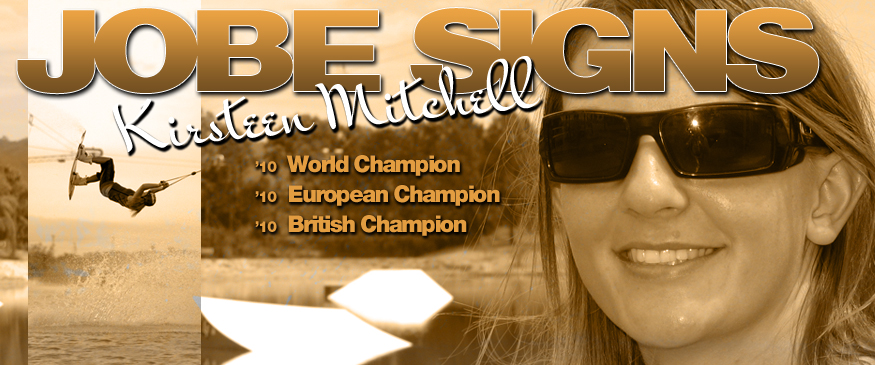 Jobe Signs Cable Champion Kirsteen Mitchell