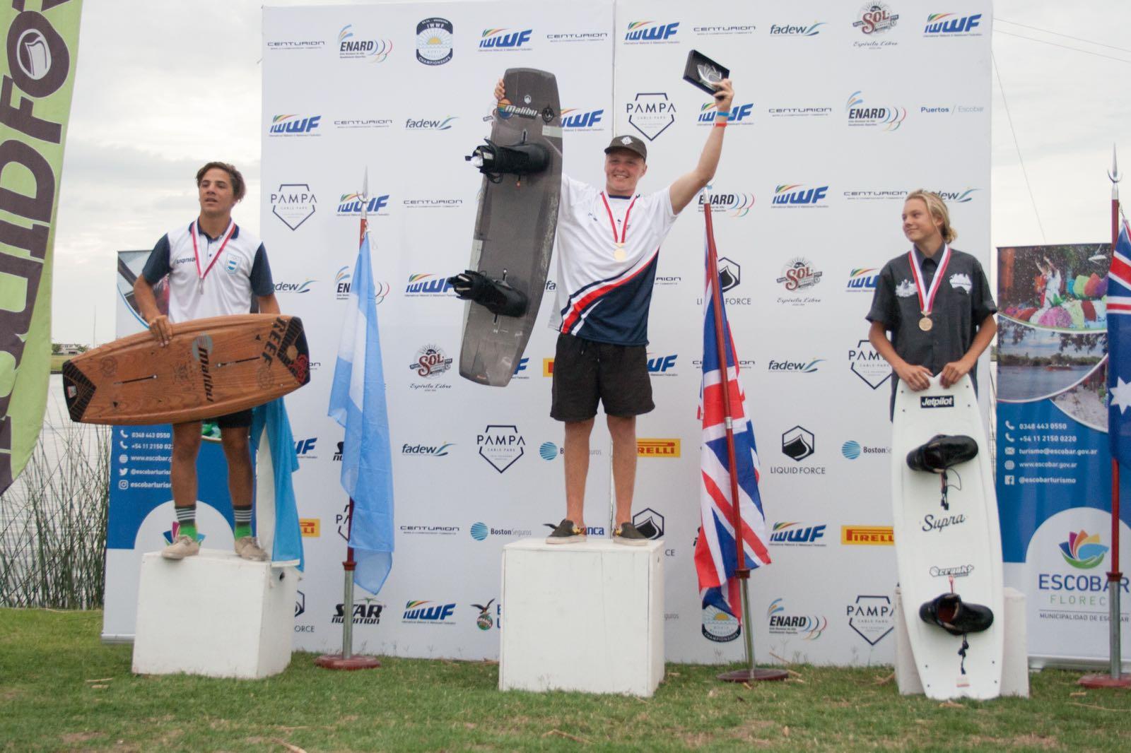 Luca Kidd Wins Gold at IWWF Wakeboard World Championships