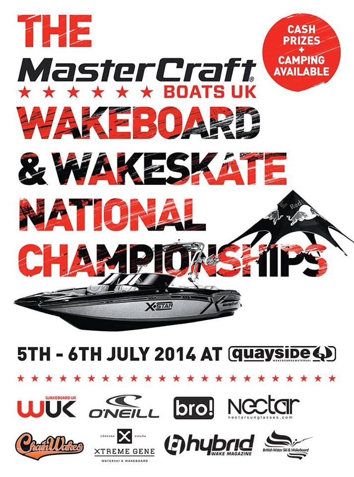MasterCraft Boats UK British Wakeboard & Wakeskate National Championships 2014